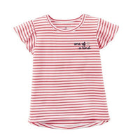 Fashion Baby Girl Tees Shirts Red Stripe Newborn Tops 100% Cotton Children T-Shirt Clothes Toddler Blouse Kids Outfits Babywear