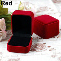 Velvet Jewelry Necklace Ring Earring Display Storage Organizer Box Case Gift Box