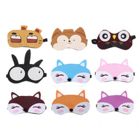 Cute Sleep Mask Natural Sleeping 3D Eye Mask Eyeshade Cover Shade Eye Patch Women Men Soft Portable Blindfold Travel Eyepatch