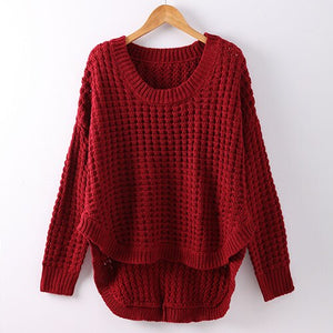 Autumn Winter Women's Sweater Female Striped Sweater For Women Causal Loose Knitted Pullover Autumn Sweaters Women Jumpers