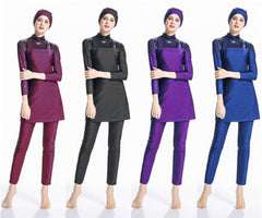 Burkini Islamic Muslim swimsuit beachwear sport swim wear with cap 3pcs/set