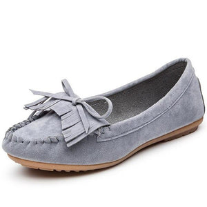 Women Flat Platform Loafers Ladies Elegant Suede Moccasins Fringe Shoes Woman Slip On Tassel Moccasin 2018 Fashion Driving Shoes