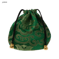 1pc High Quality Traditional Silk Travel Pouch Classic Chinese Embroidery Jewelry