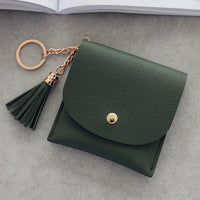 Sweet Lady Card Wallet Mini Tassel Credit Card Holder for Student Women Small Money Coins Pouch Cute Bank Cards Change Bags
