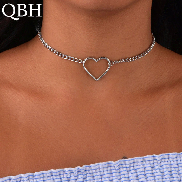 Necklaces For Women Clavicle Colar Statement Necklace Collares Heart