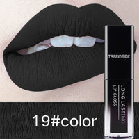 30Color Matte Lipstick Liquid Lip Gloss Waterproof Makeup Long Lasting Mate Nude Tint Lipgloss Red Purple Black Makeup For Women