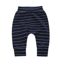 Spring Autumn Toddler Harem Striped Pants Fashion Casual 100% Cotton Cute Baby Girls Boys Sports Pants For Kids Trousers BC1620