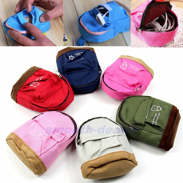 THINKTHENDO Fashion Portable Backpack Coin Bag Wallet Hand Pouch Purse for Women Lady Men Gift