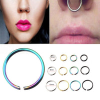 Cool girl women Stainless Steel Round Nose Ring Piercing Earring Stud