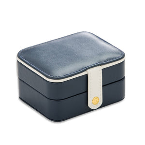 Korean Creative Small Jewelry Box Multi-storey Portable Travel Jewelry Box Leather Earrings Earrings Storage Box Small Pattern