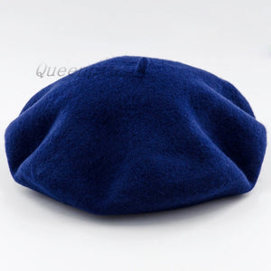 Wool Vintage  Warm Wool Winter Women Beret French Artist Beanie Hat Cap For Sweet Girl Gift spring and autumn hats