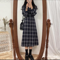 Plaid Shirt Dresses New Hot Women Japan Korean Style Design Cute