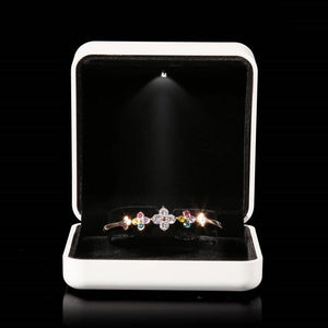 New Style White Rubber Painint LED Jewelry Box Ring Box Bracelet Pendant Box