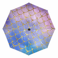 Mermaid Scales Folding Umbrella Anti UV Protection Umbrellas Fully Automatic Parasol Sun Umbrella for Women
