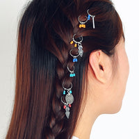 Dreadlocks Bead  Hair Cuffs Dread Tube Charm Dreadlock Accessaries Leaf Coin