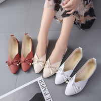 2019 New Casual Shoes Women Flats Shallow Pointed Toe Moccasins Patent