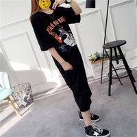 Women Cotton Dress 2018 Short Sleeve Loose Summer Dress Boyfriend Style