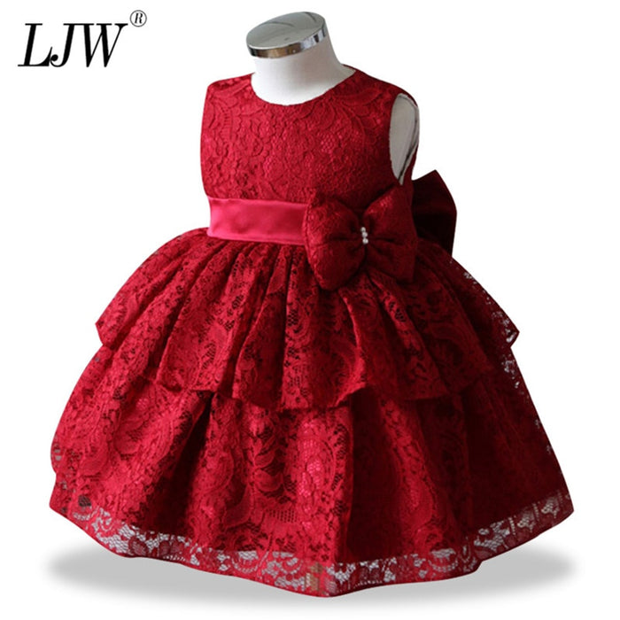 Petal Toddler Baby Girl Infant Princess Lace Tutu Dress Baby Girl Wedding Dress Kids Party Vestidos for Baby 1 Years birthday