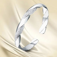 Fashion Women Silver Plated Cuff Charm Chain Wrist Bracelet Bangle A86O