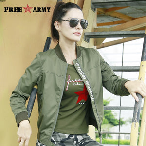 FreeArmy Fashion Casual Women Jacket Coat Light Weight Women's Jackets Camouflage
