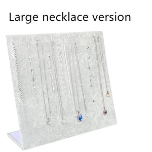 Necklace Pendant Display Stand Women Jewelry Organizer Holder Storage Case Bracelet Display Rack