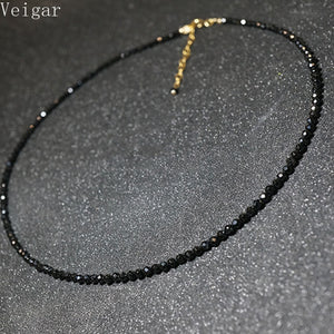 Simple Black Beads Short Necklace Female 2018 Fashion Jewelry Women