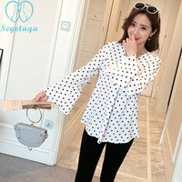 New Arrival Women Polka Dot Blouse  High Quality Fashion Classic Tops