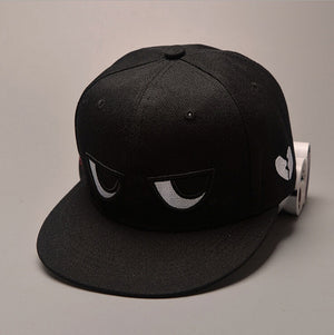 Unisex Cartoon Eyes Flat Print  Men Women Baseball Hats Hip-hop Cap Snapback Adjustable Hat