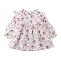 Floral Newborn Kids Babys Girls Clothes Long Sleeve O-Neck Cute Floral Jumpsuit Outfits Pageant Tutu Dress Baby Girl Clothes