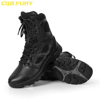 CQB.FURY Summer Mens Military Leather Tactical Boots Desert cow suede combat