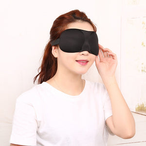 3D Sleep Eye Mask Adjustable Elastic Band Sleep Eyeshade Women Men Soft Sponge Travel Blindfold Cover Shade Eyepatch Sleep Aid