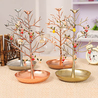Rasalhaguer Hot Sale Jewelry Display Stand Rack Tree Bird Stand Iron Necklace Earring Holder Bracelet Fashion Organizer 5 Colors