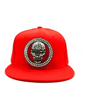 Metal skull cotton Casquette Baseball Cap hip-hop cap Adjustable Snapback Hats for kids men women 347