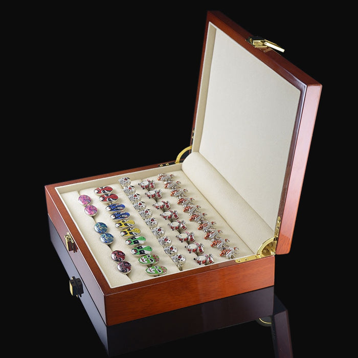 SAVOYSHI Luxury Cufflinks Gift Box High Quality Painted Wooden Box Authentic Size 240*180*55mm Capacity Jewelry Storage Box Set