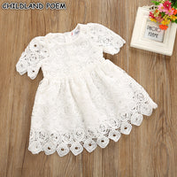 Baby Girl Clothes White Baby Girls Dress Princess Lace Newborn Infant Party 1 Year Birthday Baby Dress vestidos Christening Gown