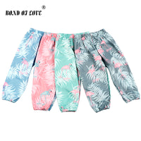 Baby Girl Boy Pants Cotton Newborn Flamingo Printed Pant Toddler Infant Casual Pant Clothing For Baby Kids Costume Trouser