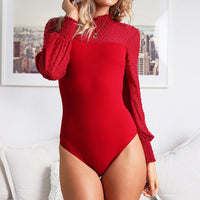 Hirigin Romper Bodysuit 2018 Newest Hot Women Ladies Jumpsuit With Lace Side Stretch Leotard Long Sleeve Body Tops Jumpsuit