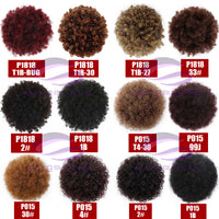 Spring sunshine Synthetic Puff Afro Short Kinky Curly Chignon Hair Bun Drawstring Ponytail Wrap Hairpiece Fake Hair Extensions