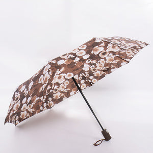 Flowers Pattern Umbrella Rain Women Windproof Ultralight Sun Rain Automatic Folding Umbrellas Travel Lady Umbrella parasol