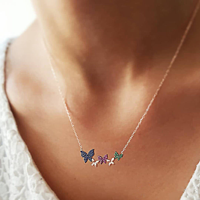 SHUANGR Personalized Flamingo Elephant Heart Pendant Necklace
