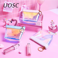 UOSC Transparent Coin Purses Women Wallets Small Cute Card Holder