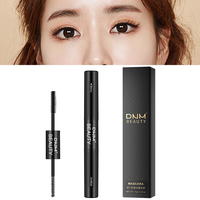 DNM 1pc Black Silk 4D Double Mascara Grafting Growth Waterproof Long Thick Warm Water Removable Not Blooming Eye Makeup TSLM2