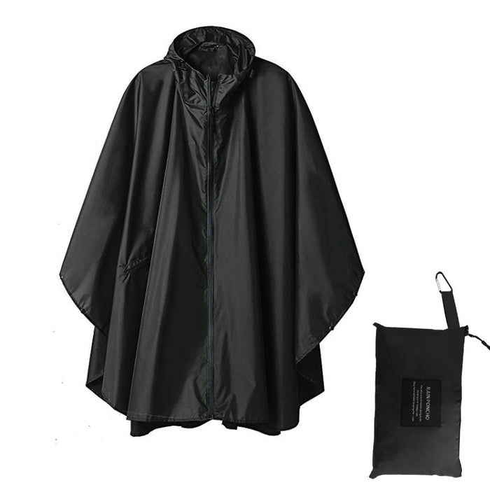 Black trench Coat fashion Style Hooded Women men unisex Raincoat Outdoor Rain Poncho Waterproof Rain Coat 3 Colors Rainwear
