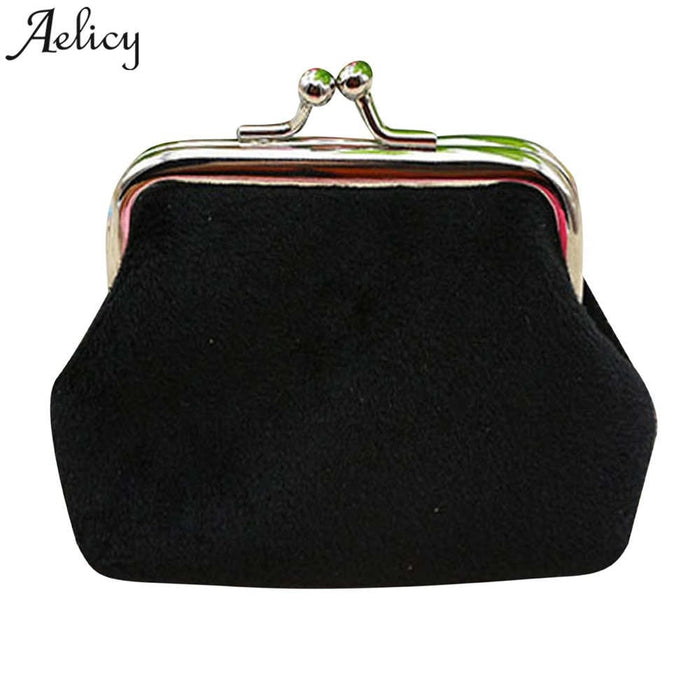 Candy Color Printing Women Coin Purse Womens Corduroy Small Wallet