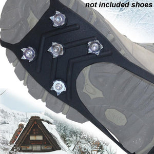 8 Nails Ice Floes Gripper For Shoes Snow Crampons Anti-slip Ice Gripper