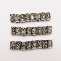 24pcs mix Silver Hair Braid beard Dreadlock Beads rings tube Viking