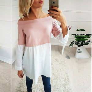 Casual Maternity Blouse Women Clothing 2018 Autumn Ladies Patchwork Long Sleeve