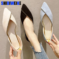 2019 Spring New Fashion Woman Flats Shoes Female Ballet Shoes Slip On Loafers Pointed Toe Casual Espadrilles Zapatos Mujer n552