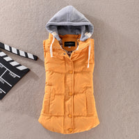Winter Coat Women Ladies Gilet Colete Feminino Casual Waistcoat Female Sleeveless Jacket Plus Size