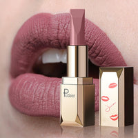 Pudaier Matte Lipstick Waterproof Lip Makeup 26Colors Long Lasting Moisturizer Lip Tint Black Pigment Sexy rouge a levre mat